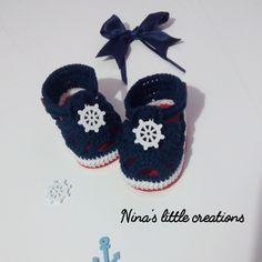 sandali per bebè lavorate all'uncinetto : Calzature di nina-s-little-creations