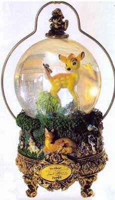 Bambi music box masters of animation snowglobe frank thomas