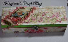 Decoupage storage box I Am Store, Distress Ink Techniques, Send A Card, Mandala Coloring Pages, Tatting Lace, Decoupage Paper, Craft Materials, Mandala Design, Wooden Boxes