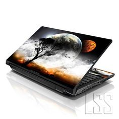 "LSS 15 15.6 inch Laptop Notebook Skin Sticker Cover Art Decal Fits 13.3"" 14"" 15.6"" 16"" HP Dell Lenovo Apple Asus Acer Compaq (Free 2 Wrist Pad Included) Earth and Moon Eclipse LSS http://www.amazon.com/dp/B00H0LIGMG/ref=cm_sw_r_pi_dp_deYQub0XBFHE1"
