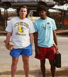 "John Travolta and Samuel L. Jackson in ""Pulp Fiction"" Movie Shots, Movie Tv, Cinema Movies, Samuel Jackson, Film Aesthetic, Music Film, Actors, Quentin Tarantino, Cultura Pop"