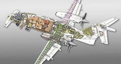 Piaggio p 180 Avanti-de BS-Design 1:144 Avión