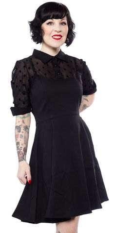 COLLECTIF WEDNESDAY SKATER DRESS