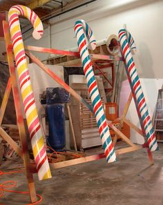 SG Studios created fiberglass candy canes for Dylan's Candy Bar