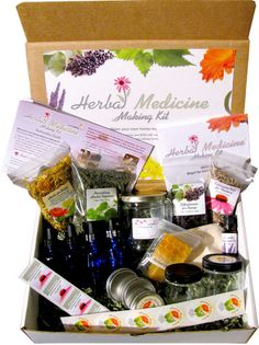 The Herbal Medicine Making Kit - Your starter kit to DIY health and well-being!  Only $67 for everything you need to create elderberry syrup, healing herbal salve, echinacea tincture and nutritious nettle infusion.