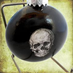 Gothic Glass Christmas Ornament