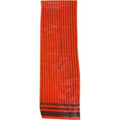 Christian Dior Silk Scarf Oblong Red Navy Stripe