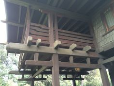 Gamble house, Pasadena: Balcony