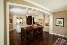 white cupboards/molding with tan walls Taupe Paint Colors, Wall Colors, Color Walls, Beige Paint, White Colors, Taupe Color, Room Colors, Minneapolis, Kitchen Designs