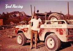 Vintage baja racing bronco