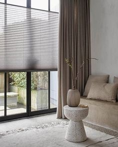 Home Curtains, Curtains With Blinds, Window Coverings, Window Treatments, Window Design, Stores, Home Living Room, Interior Inspiration, Home And Family