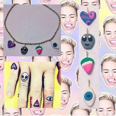 Miley Cyrus Finger Tatt Chain Choker by bratlife on Etsy