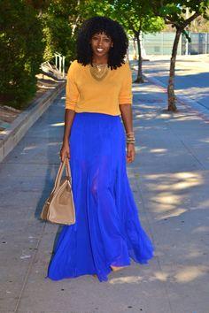 Long Sleeve Tee + Sheer Maxi Skirt | Style Pantry