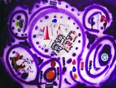 cm, sticker and stencil on bristol, 2015 Paper Artwork, Bristol, Birthday Candles, Fields, Stencils, Stickers, Game, Paper Art, Gaming
