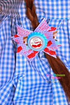 Dorothy Home Ruby Slippers Red Shoes Wizard of Oz Bottle Cap Hair Bow Lilah Bow 3 inch - pinned by pin4etsy.com