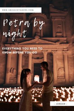 Everything you need to know before you go. #jordan #petra #travelguide #petrabynight Jordan Petra, Jordan Travel, Night Time, Need To Know, Travel Guide, Travel Inspiration, Jordans, Let It Be, Movie Posters