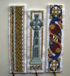 Textile Heritage Celtic cross stitch bookmarks.