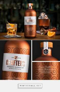 Crafter's Copper Distilled Gin by KOOR Packaging design