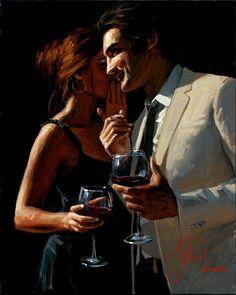 I love this painting by my favorite painter, Fabian Perez., I love this painting by my favorite painter, Fabian Perez. Fabian Perez, Local Art Galleries, Romance Art, In Vino Veritas, Pulp Art, Couple Art, Dance Photography, Beautiful Paintings, Erotic Art