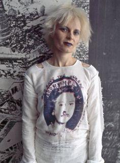 La belleza única y transgresora de la diseñadora Vivienne Westwood en 1970.