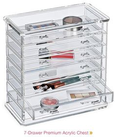 The Container Store - 7-Drawer Premium Acrylic Chest--OH MY JUST WHAT I NEED, ANOTHER PLACE TO PUT MY MAKEUP!!!! NOW SHOULD I BUY ONE, TWO OR THREE?