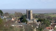 Looking over St George's Church from the path to Grabbist Hill, Dunster.
