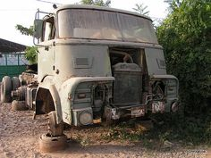 Abandoned DAF A2400 truck