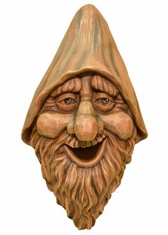 Wood Spirit rustic Carved Bird House Birdhouse Happy Garden Gnome Whimsical for sale online Bird House Plans, Bird House Kits, Wood Carving Patterns, Wood Carving Art, Wood Carving Faces, Cool Bird Houses, Tree Faces, Birdhouse Designs, Wooden Walking Sticks