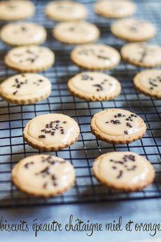 """Un """"Flo"""" de bonnes choses » Biscuits glacés épeautre châtaigne miel & orange"""
