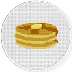 FREE for Feb 16 2016 Only - Pancakes Cross Stitch Pattern
