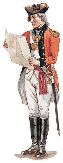 Officer, King's American Regiment, c. 1780 - 1783. British Marine, British Army, American Revolutionary War, American War, Commonwealth, Friedrich Ii, Independence War, 18th Century Clothing, Army Uniform