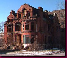 Detroit's Brush Park: Urban Decay and Rebirth - Detroit - UrbanPlanet . Detroit Ruins, Abandoned Detroit, Old Abandoned Buildings, Abandoned Property, Abandoned Castles, Abandoned Mansions, Old Buildings, Abandoned Places, Architecture Old