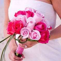 poplesapina: Pink Wedding Flowers Pink Bouquet. NAILED IT. This is EXACTLY what I want. No white flowers here, yuck.
