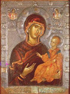 Virgin Psychosostria Ohrid14th century - Arte mariano - Wikipedia, la enciclopedia libre