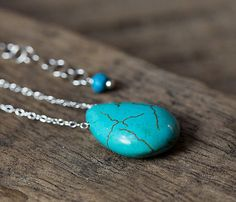 TURQUOISE BOHO NECKLACE Alison Storry Jewelry  $35.00