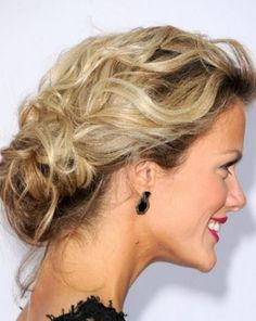 Wavy low bun updos for thin hair