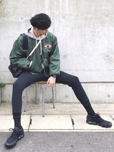 Korean Street Fashion - Life Is Fun Silo Korean Fashion Men, Korean Street Fashion, Korean Men, Mens Fashion, Guy Fashion, Winter Fashion, Outfits Hombre, Boy Outfits, Men Street