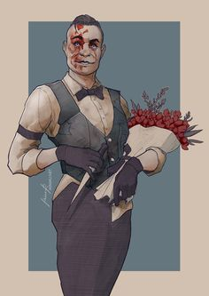 The Groom. Eddie Gluskin from Outlast: Whistleblower. #outlast #eddiegluskin #fanart #digitalart