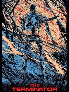 Mondo Poster ARt for THE TERMINATOR -  Hands down. My all time favorite sci-fi series ever.