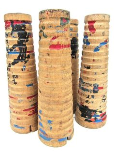 Four Wooden Spools Instant Collection by worldvintage on Etsy, $10.50
