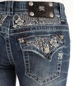 552bbad2ef38 MISS ME JEANS Sale New Low Rise Fleur Flap Pocket Bootcut Stretch Jean 26 X  34