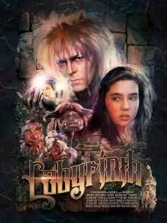 A privately commissioned poster for the popular Jim Henson fantasy movie Labyrinth.