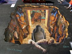 3D Street Painting - Escape of the Mummy | Flickr - Photo Sharing!