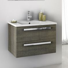 Bathroom Vanity, ACF DA04, 24 Inch Vanity Cabinet With Fitted Sink DA04
