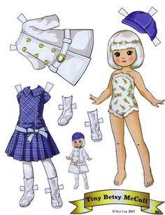 (⑅ ॣ•͈ᴗ•͈ ॣ)♡ ✄Paper Dolls Tiny Betsy McCall