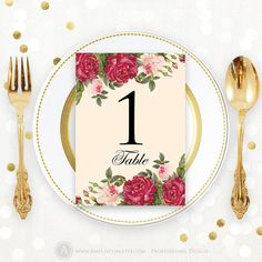 Printable Table Numbers Cards Floral Burgundy and by AmeliyCom https://www.etsy.com/listing/272201584/printable-table-numbers-cards-floral