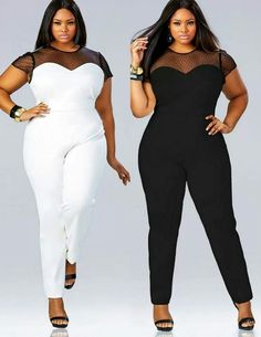 41e52b704156 Black or White plus size outfit Vetement Femme Ronde, Mode Grande Taille,  Mode Européenne