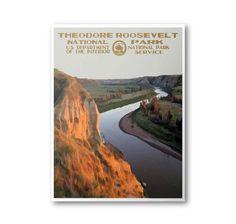 Theodore Roosevelt National Park Travel Poster & Postcard