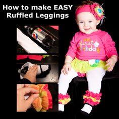 easy how to make ruffled leggings