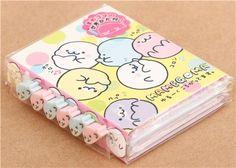 San-X Mamegoma rolling baby seals mini memo pad book